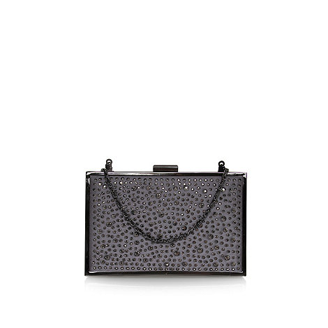 Pewter 'Daisy' Box Clutch Bag