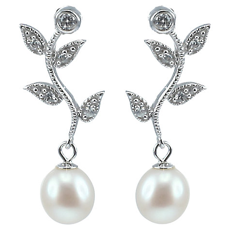 Lido Pearls Leaf Drop Pearl Earrings