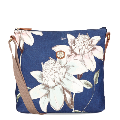 Sheila Messenger Denim Floral Bag