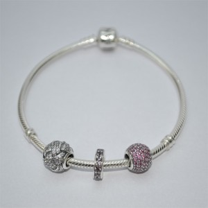 Pandora Chain PAVE Charms Eternity Spacer