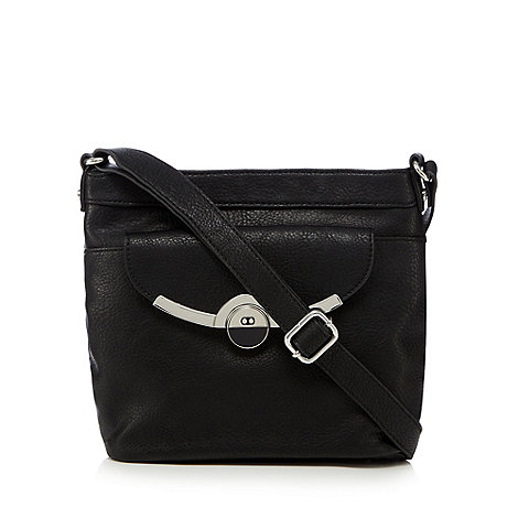 Black Clasp Cross Body Bag