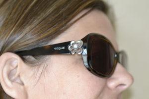 Vogue Sunglasses Floral Arm