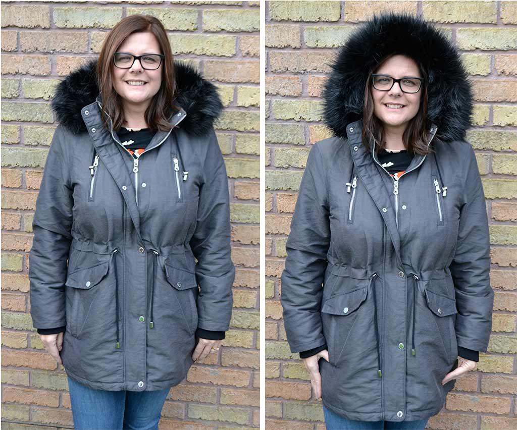 M and S Metallic Zipped Parka