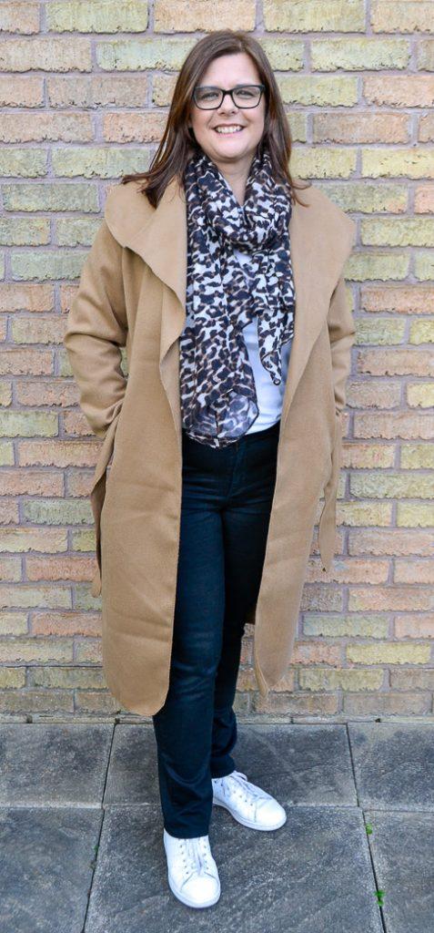 Camel Italian Collar Belted Long Coat