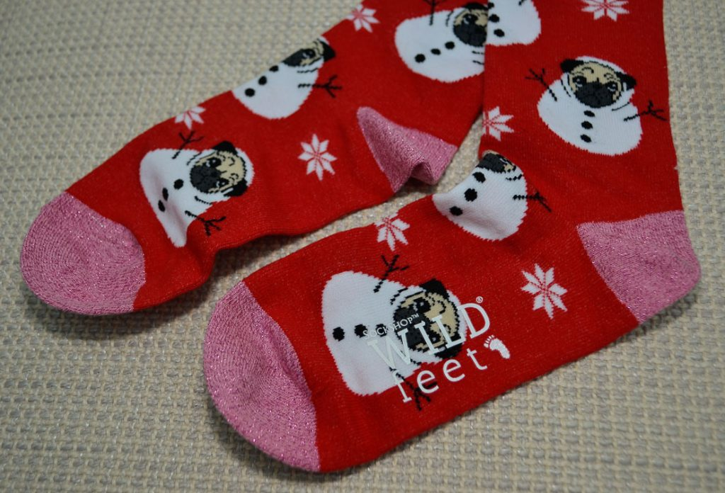 SockShop Pug Snowman Socks