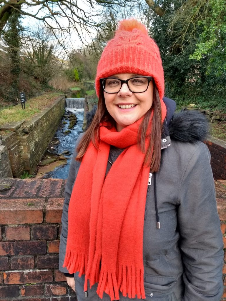 M&S Collection Orange Brushed knit scarf and bobble hat