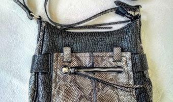Snake Print Crossover Bag