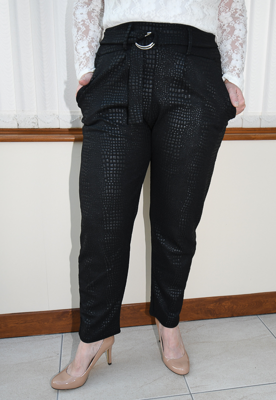 Crocodile Print Cigarette Trousers