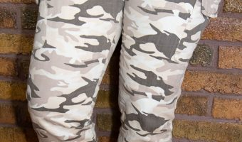 Brown Camo Print Trousers