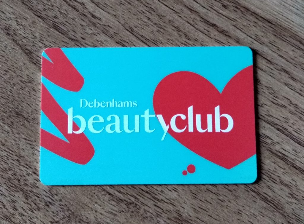 Debenhams Beauty Rewards Card