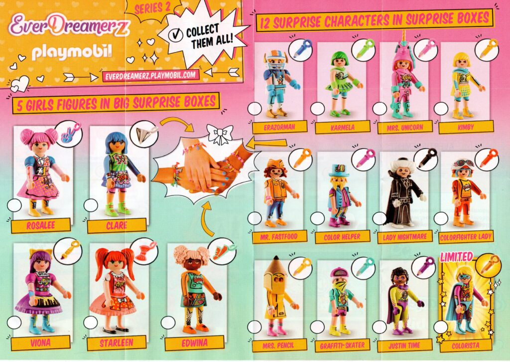 Playmobil EverDreamerZ Series 2 Collection Characters