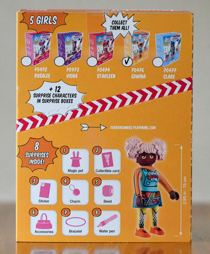 Playmobil EverDreamerZ Series 2 Edwina box - back