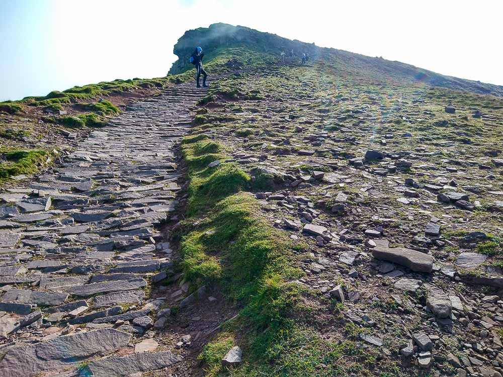 Stone path leading to Corn Du