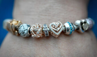 Pandora Bracelet with Charms feature
